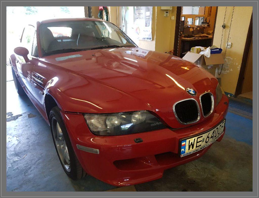 Samochód BMW Z3 w którym wykonaliśmy naprawę sprężarki klimatyzacji.